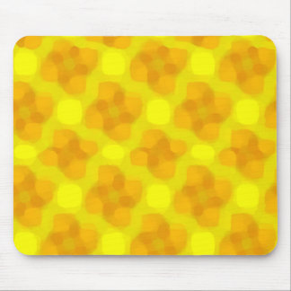 Golden Flowers Mouse Pad