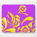 Golden flowers mousepad
