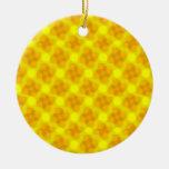Golden Flowers Ornament