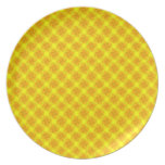 Golden Flowers Party Plate