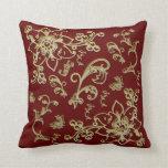 Golden Flowers Pillows