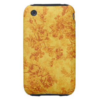 Golden Flowers Tough iPhone 3 Case