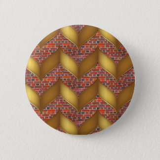 Golden Foil on Colorful Brick wall 100 pods gifts Pinback Button