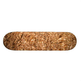 golden foil skateboard