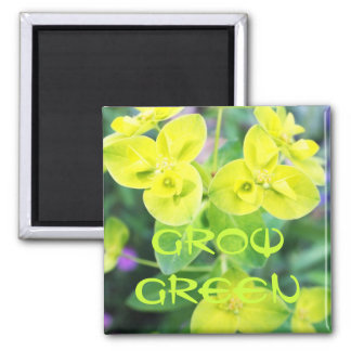 Golden foliage 2 inch square magnet