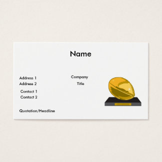 golden football champions business card