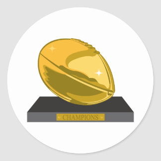 golden football champions classic round sticker