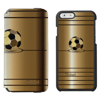 Golden Football Soccer Style iPhone 6/6s Wallet Case