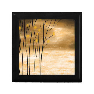 Golden forest jewelry box