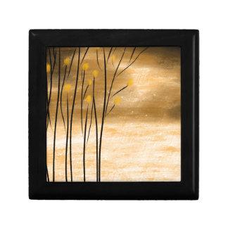 Golden forest keepsake box