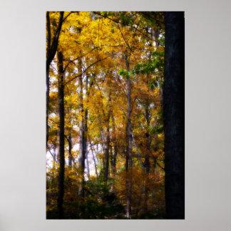 Golden Forest Poster