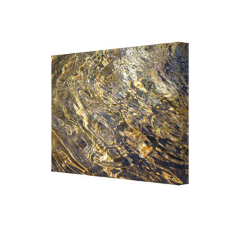 Golden Fountain Water 2 Gallery Wrapped Canvas