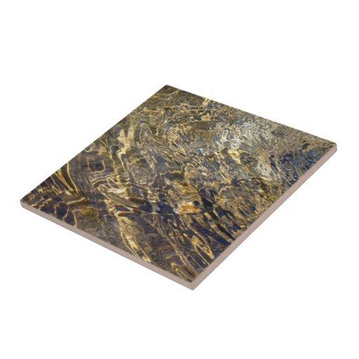 Golden Fountain Water 2 Ceramic Tile