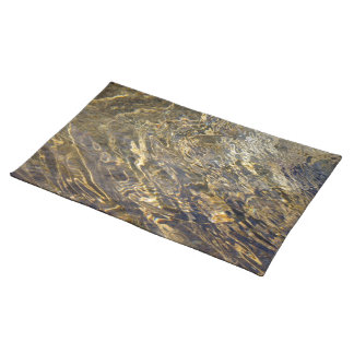 Golden Fountain Water 2 Cloth Placemat