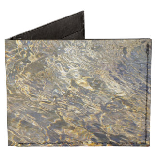 Golden Fountain Water 2 Billfold Wallet