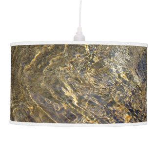 Golden Fountain Water 2 Hanging Lamp