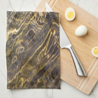 Golden Fountain Water 2 Kitchen Towels