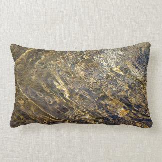 Golden Fountain Water 2 Lumbar Pillow