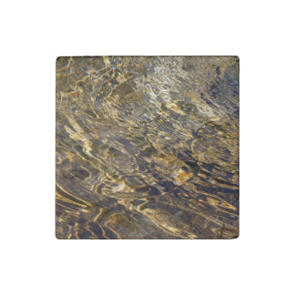 Golden Fountain Water 2 Stone Magnet
