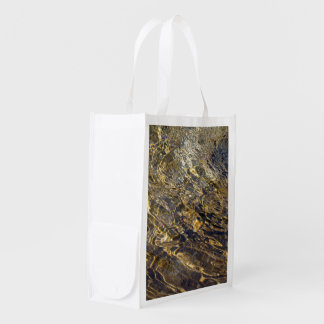 Golden Fountain Water 2 Reusable Grocery Bags