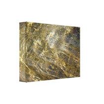 Golden Fountain Water Canvas Print