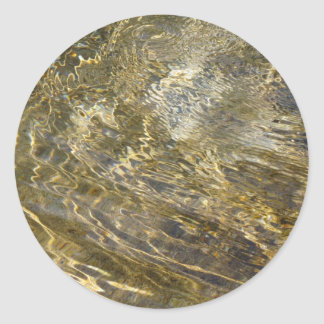 Golden Fountain Water Classic Round Sticker