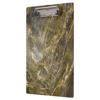 Golden Fountain Water Clipboard