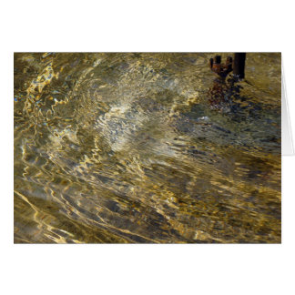 Golden Fountain Water Greeting Card