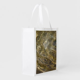 Golden Fountain Water Grocery Bag