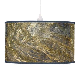 Golden Fountain Water Hanging Lamp