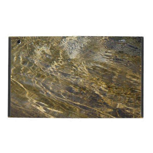 Golden Fountain Water iPad Folio Case
