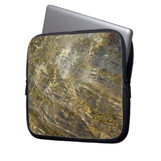 Golden Fountain Water Laptop Sleeve