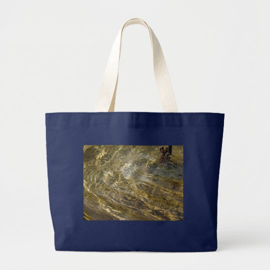 Golden Fountain Water Large Tote Bag