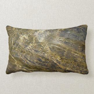 Golden Fountain Water Lumbar Pillow