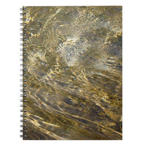 Golden Fountain Water Notebook