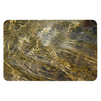 Golden Fountain Water Rectangular Photo Magnet