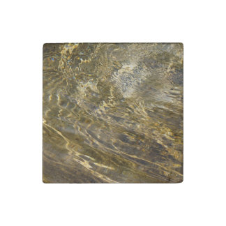 Golden Fountain Water Stone Magnet