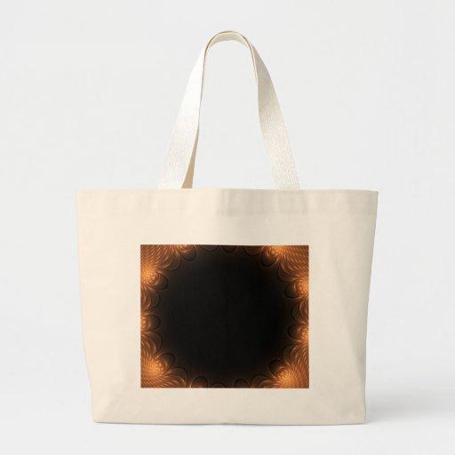 Golden Fractal Border Bags