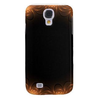Golden Fractal Border Galaxy S4 Cases