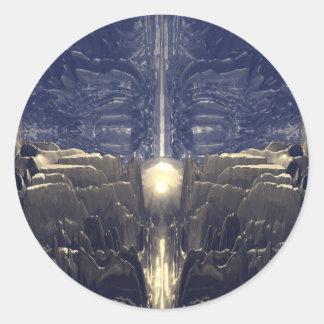 Golden Fractal Environment Classic Round Sticker