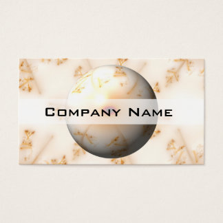 Golden Fractal Globe Business Card