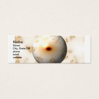 Golden Fractal Globe Mini Business Card