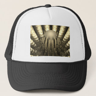 Golden Fractal Trucker Hat