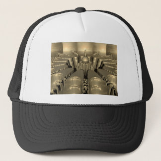 Golden Fractal Trucker Hat
