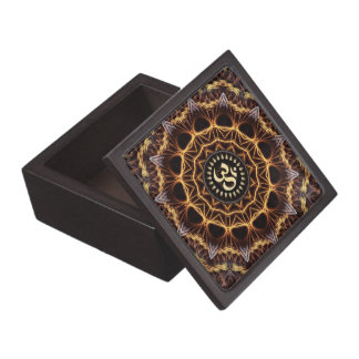 Golden Fractal Weave Aum Premium Gift Box