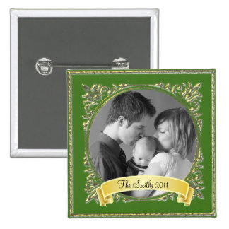 Golden Frame 2 Inch Square Button