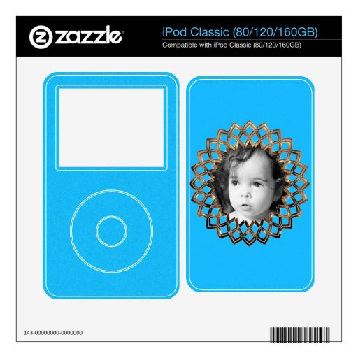 Golden frame for your photo decals for iPod classic