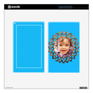 Golden frame for your photo skin for kindle fire