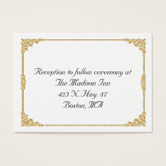 Golden frame Wedding enclosure cards