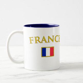 Golden France Two-Tone Coffee Mug